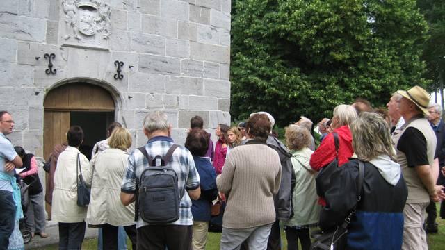 Visite de la chapelle du château d'Oultremont